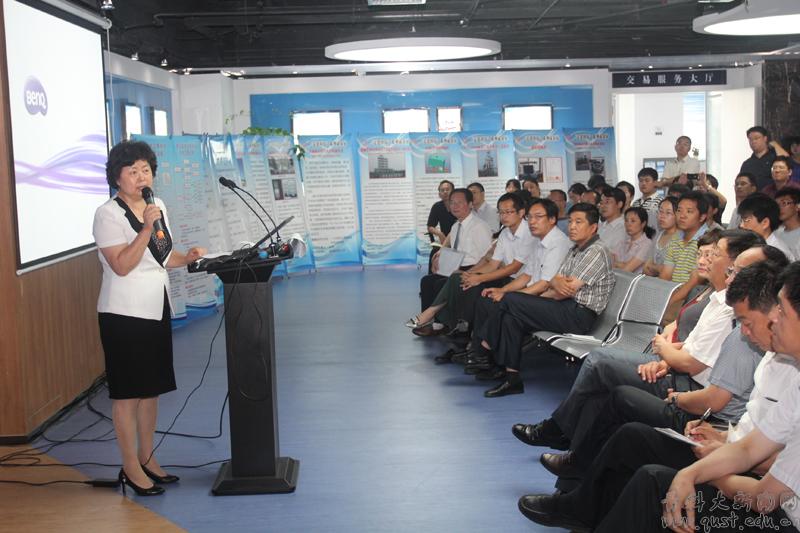 青岛市科技局局长姜波,青岛市科技局纪检书记赵春生出席会议并为市场